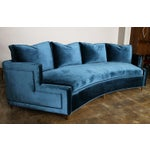 Image of Pierre Curved Velvet Sofa