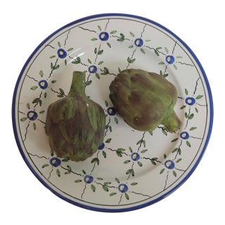Porcelain Artichoke Ceramic Plate