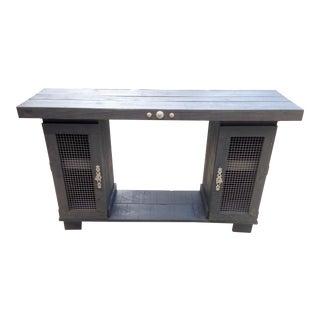Rustic Entryway Cabinet Console