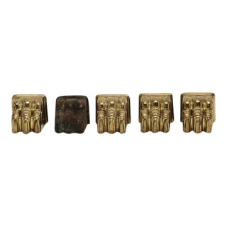 Brass Table Claw Feet - Set of 5