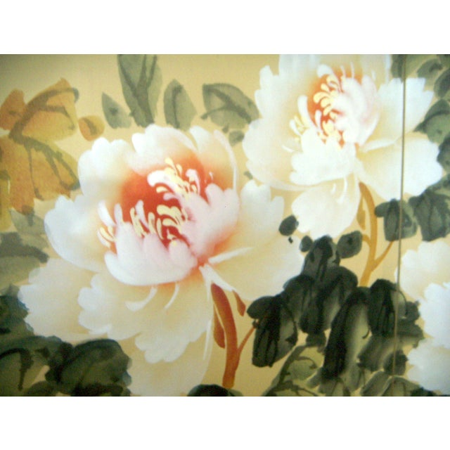 Oriental Silk Screen with Chrysanthumums - Image 3 of 6