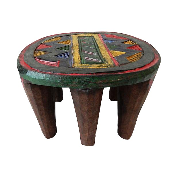 African Nupe Low Milk Stool - Image 1 of 6