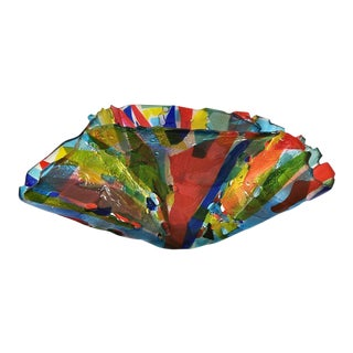Multi-Color Fluted Bowl