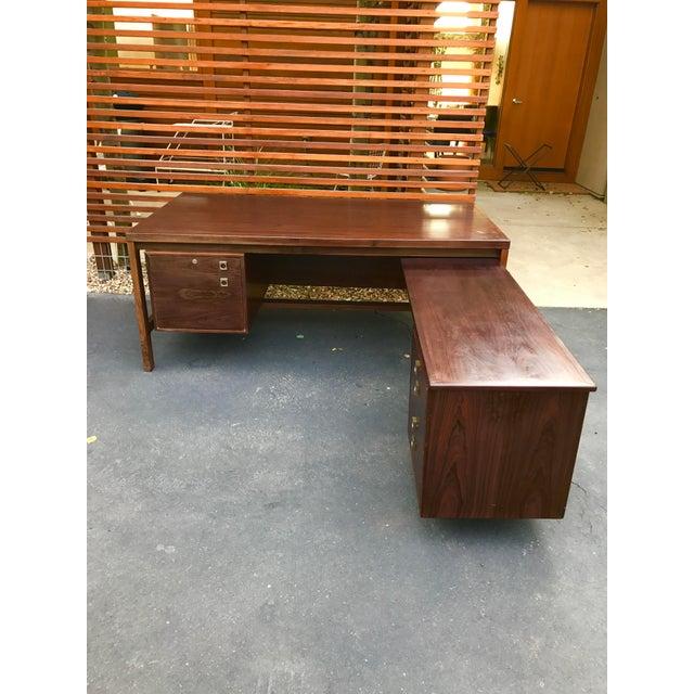 Arne Vodder Executive Rosewood Desk - Image 2 of 5