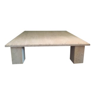 Vintage Square Travertine Coffee Table