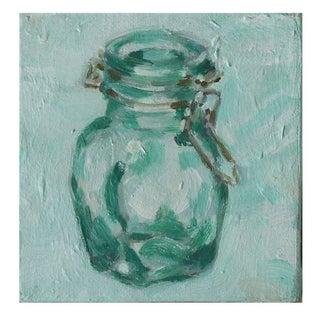 Small Original Acrylic Painting - Hinged Jar IV