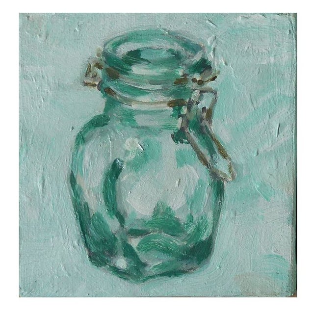 Image of Small Original Acrylic Painting - Hinged Jar IV