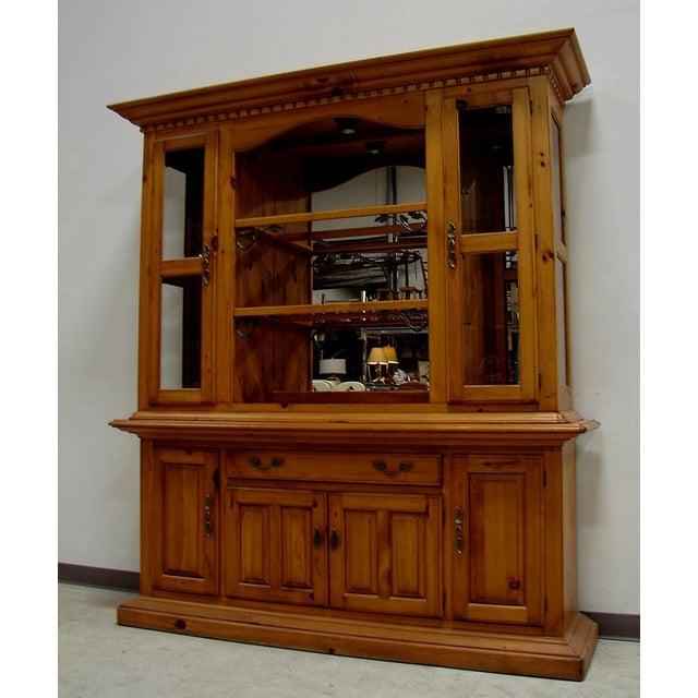 Pine China Cabinet Hutch