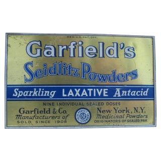Vintage Garfield's Seidlitz Powders Tin