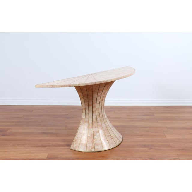 Maitland-Smith Tessellated Marble Console Table - Image 3 of 5