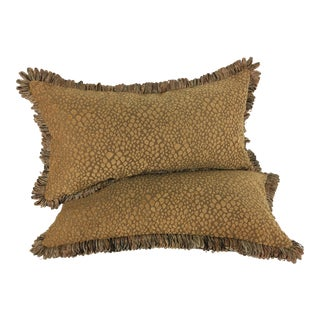 Italian Chenille Faux Leopard Pillows- a Pair
