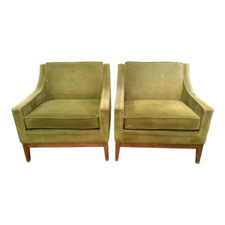 Green Monteverdi-Young Club Chairs - A Pair