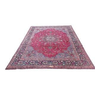 "Antique Red Persian Oriental Rug - 13' x 9'5"""
