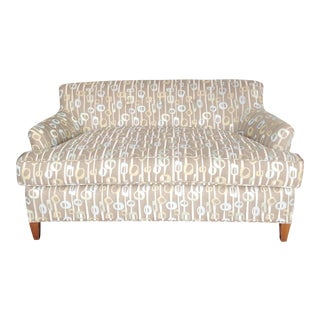 Contemporary Brown Loveseat