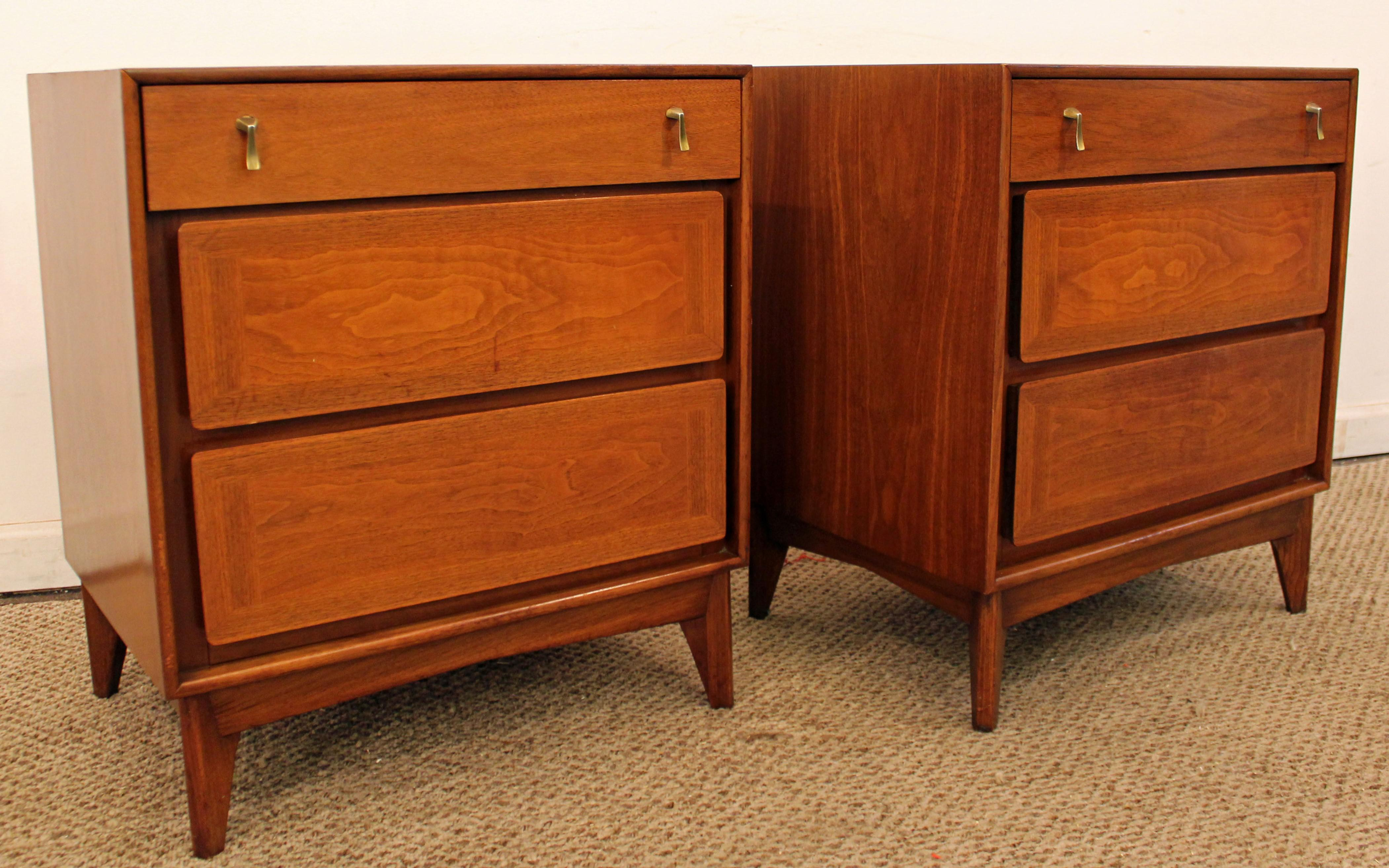 Red Lion Table Co. Mid Century Walnut Nightstands   A Pair   Image 2