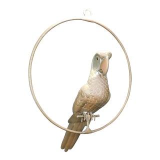 Mid-Century Modern Sergio Bustamante Copper Brass Bird Parrot Hanging Sculpture