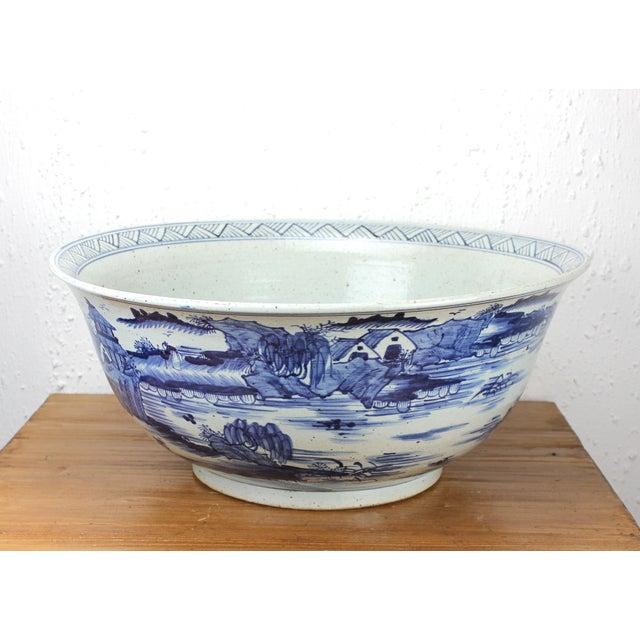 Antique Sarreid LTD Asian Antique Ceramic Water Bowl - Image 2 of 2
