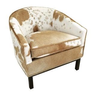 Vintage Dunbar Club Chair in Cowhide