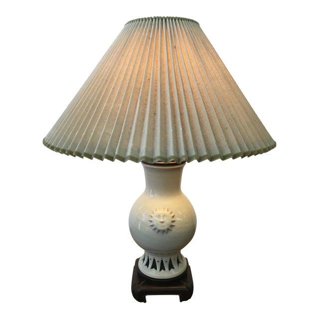 Glazed Ceramic Sun Lamp - Image 1 of 6