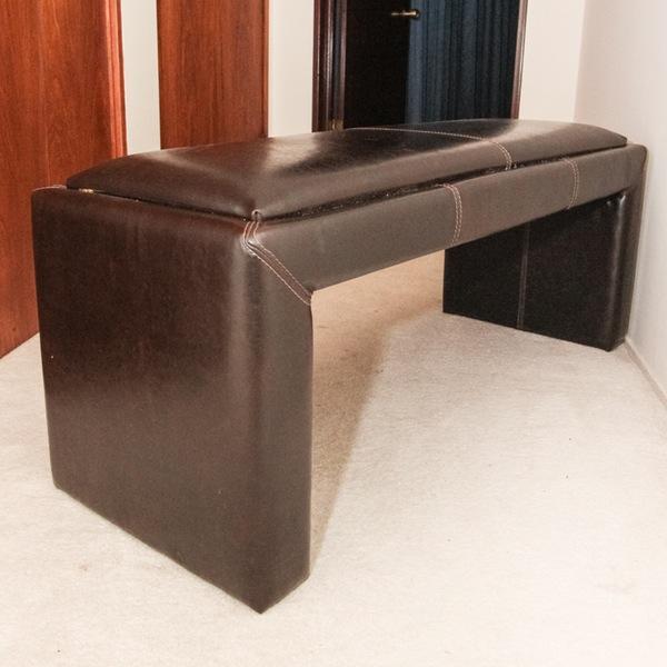 Divani chateau d 39 ax leather bench chairish for Divani chateau d ax offerte