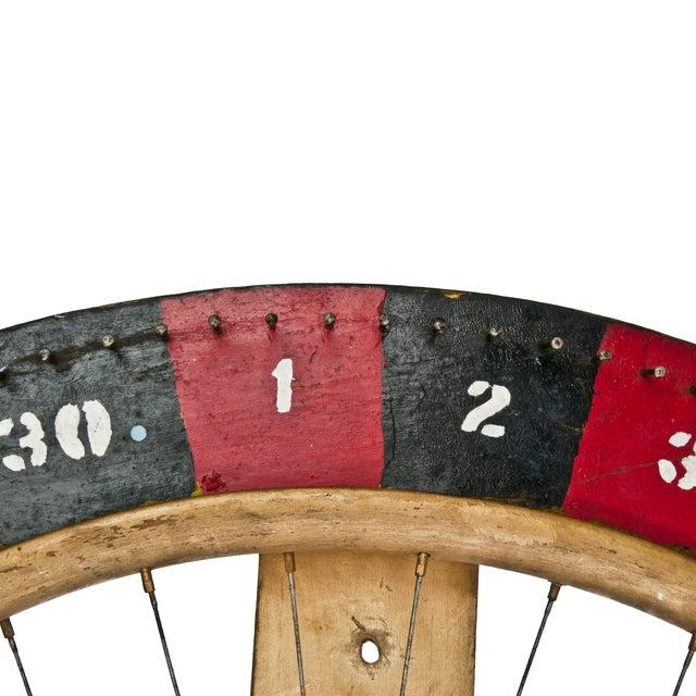 Vintage Handmade Carnival Game Wheel - Image 3 of 4