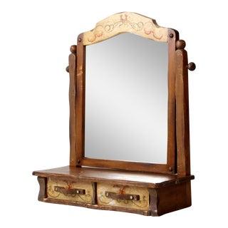 Monterey Style Dresser Top Mirror