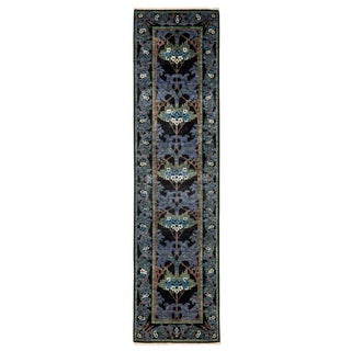 """Arts & Crafts Hand Knotted Runner - 2'6"""" X 9'10"""""""