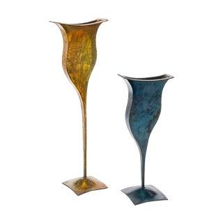 Metal Vases - Pair