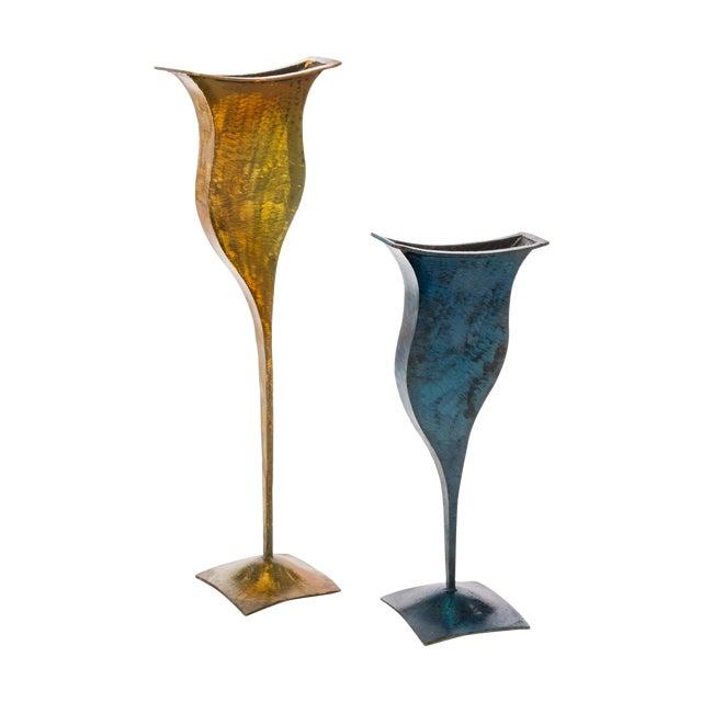 Metal Vases - Pair - Image 1 of 4