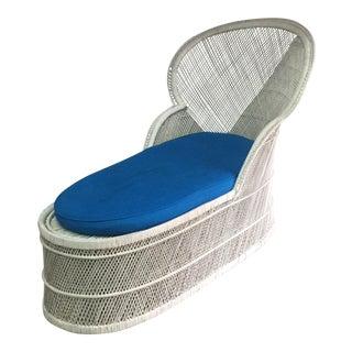 Vintage Bohemian Wicker Rattan Lounge Chair