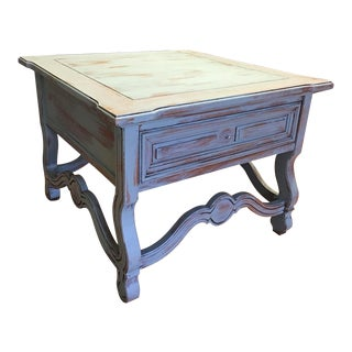 Thomasville Turquoise Wooden Side Table