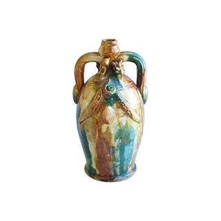 Antique Salt-Glazed Stoneware Jug