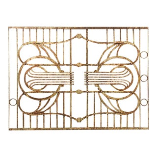 1920s Art Deco Wrought Iron Panel