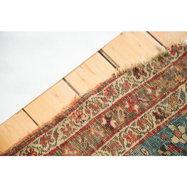 Image of Distressed Persian Halvei Bijar Rug - 4′6″ × 5′7″