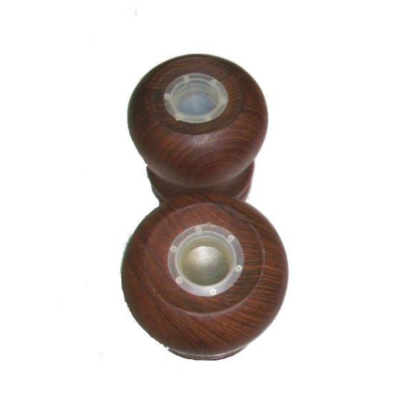 Image of Teak Salt and Pepper Shakers - Pair