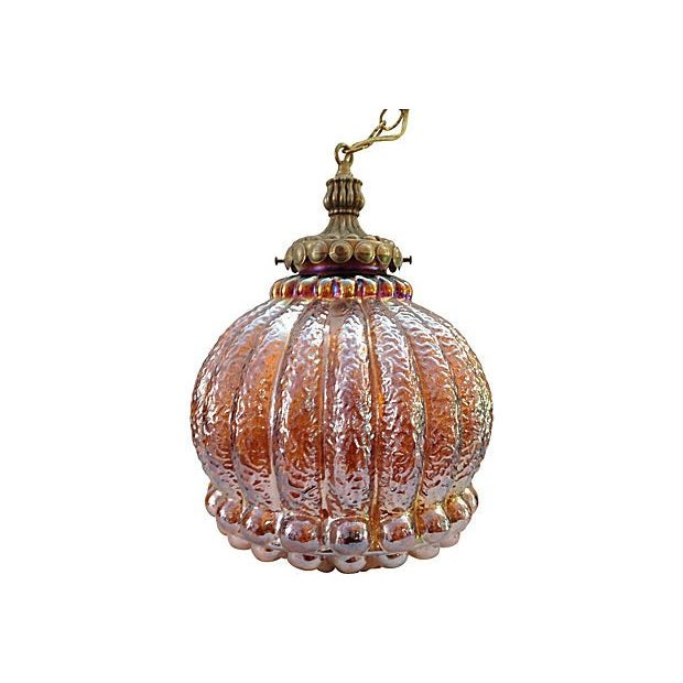 Marigold Carnival Glass Pendant - Image 3 of 4