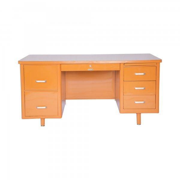 McDowell-Craig Vintage Tanker Orange Desk - Image 1 of 5