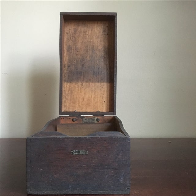 Vintage Globe Wernicke Wooden Index Card File Box - Image 9 of 11