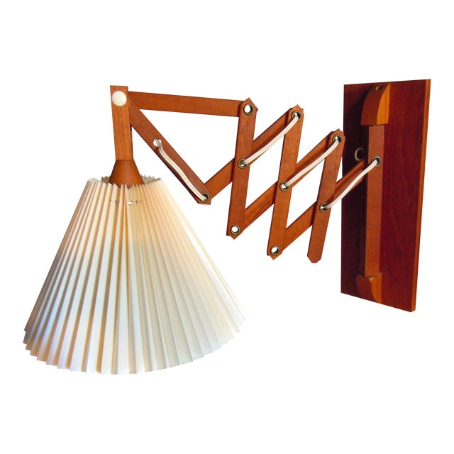 Wall Mounted Accordion Lamps : Danish Modern Teak Accordion Wall Lamp Chairish
