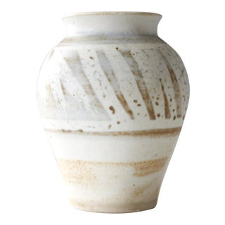 Mid-Century Vintage Handmade Pottery Vase