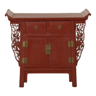 Red Lacquer Cabinet, China c. 1900