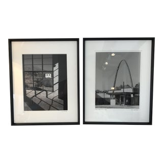 Framed Black & White Architectural Photographs - A Pair