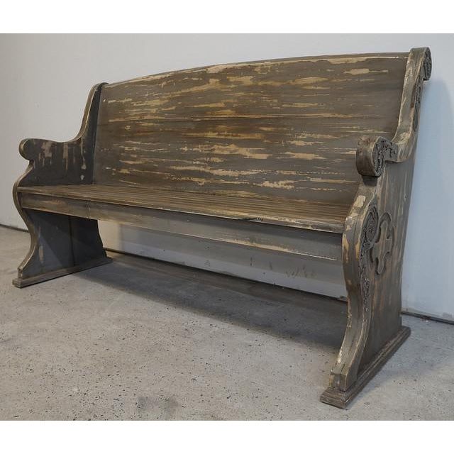 Vintage Style Cathedral Painted Church Pew Bench Chairish