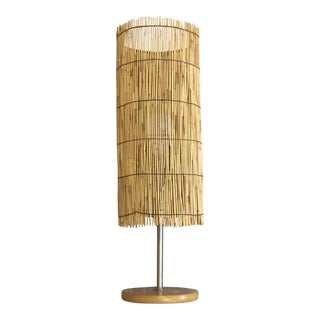 Round Reed Table Lamp