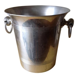 Vintage French Metal Champagne Ice Bucket