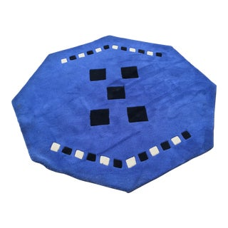 Indian Polygon Shaped Tufted Rug - 5′ × 5′