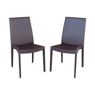 Italian Calligaris Leather Chairs - A Pair