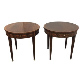 Baker Furniture Round Side Tables- A Pair