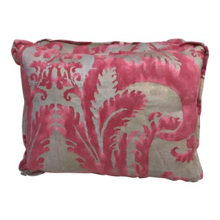 Pink & Gold Fortuny Pillows - A Pair