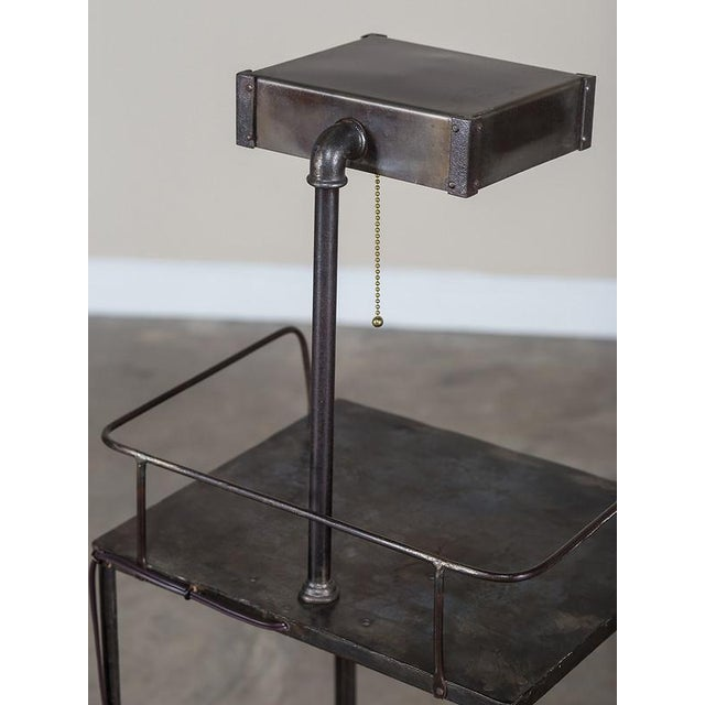Vintage Industrial French Metal Cabinet with Light circa 1940 - Image 8 of 11